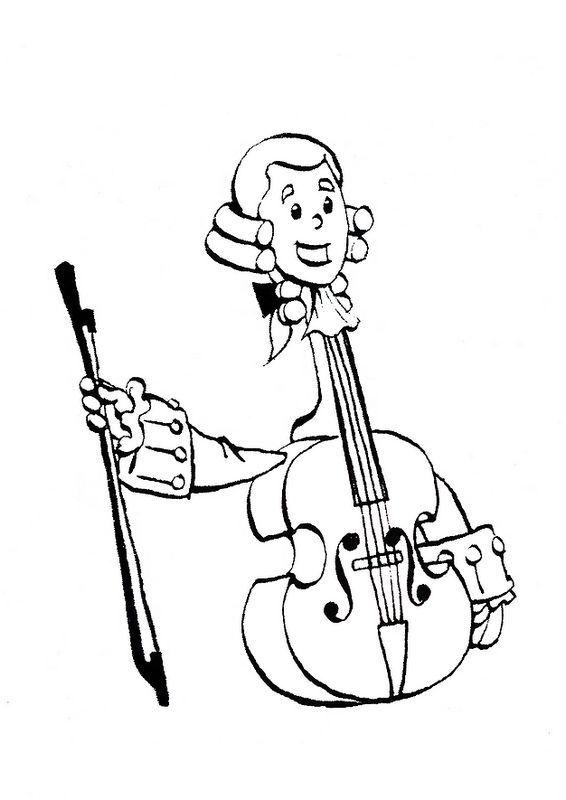 Colorare Strumenti Musicali Disegno Un Violino