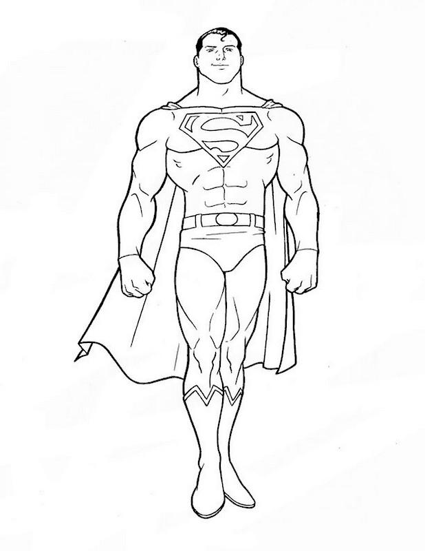 Colorare superman disegno molto bello e molto muscoloso for Immagini super eroi da colorare