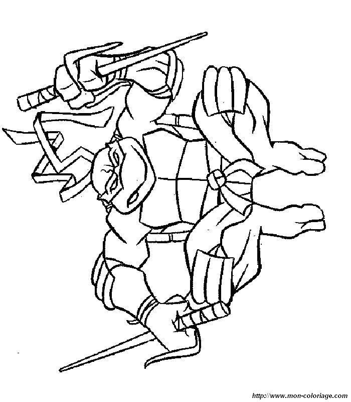 Tartarughe Ninja Da Colorare Pdf Stampae Colorare