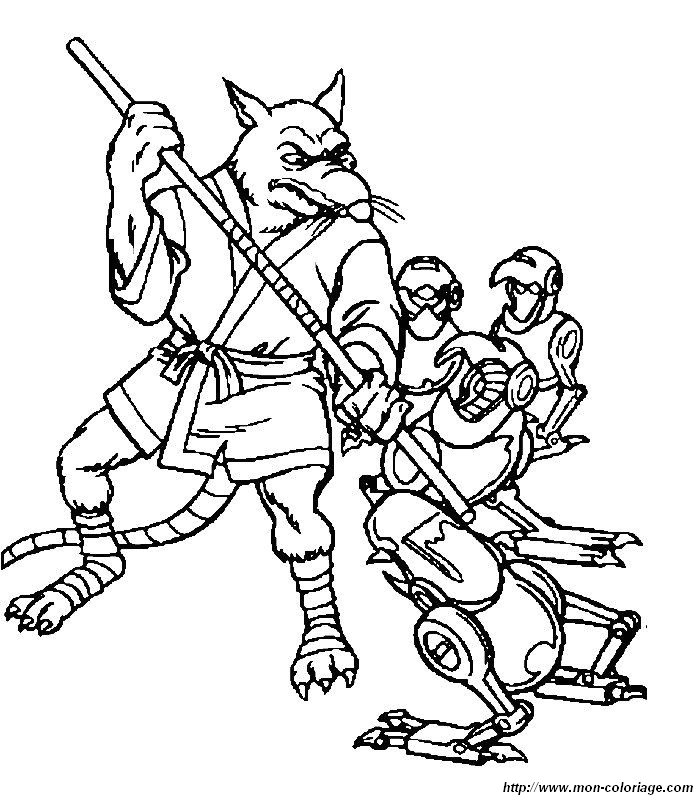 Colorare tartarughe ninja disegno 015 - Maitre rat tortue ninja ...