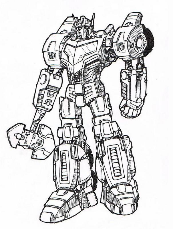 disegni da colorare autobot