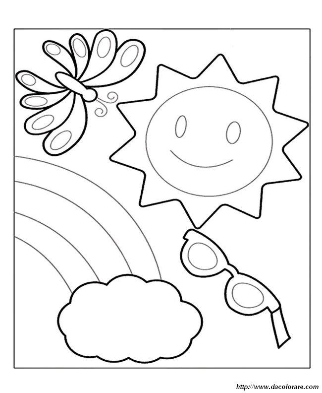 Colorare Vacanze Disegno Simboli Dell Estate