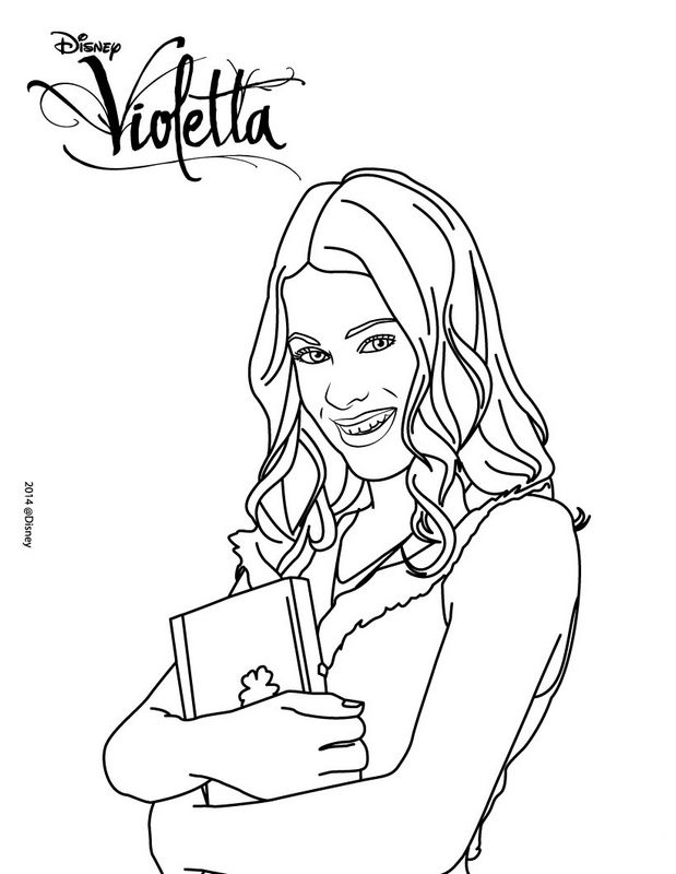 Colorare Violetta Disegno Con Il Suo Diario