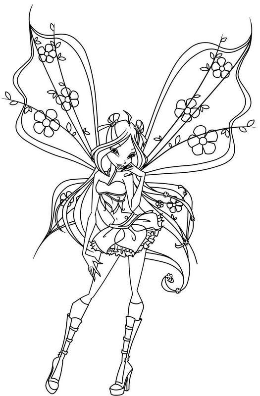 Colorare Winx Disegno Flora La Magia Della Natura