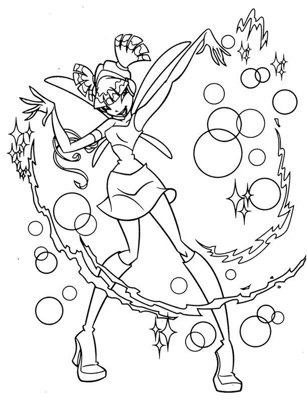 Colorare Winx Disegno Musa Membro Di Winx Club