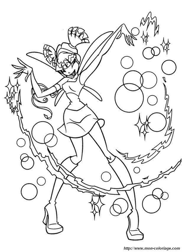 Colorare Winx Disegno Musa La Fata Della Musica