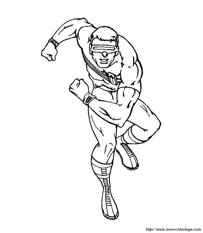 Colorare X men, disegno 010 X Men Coloring Pages Cyclops