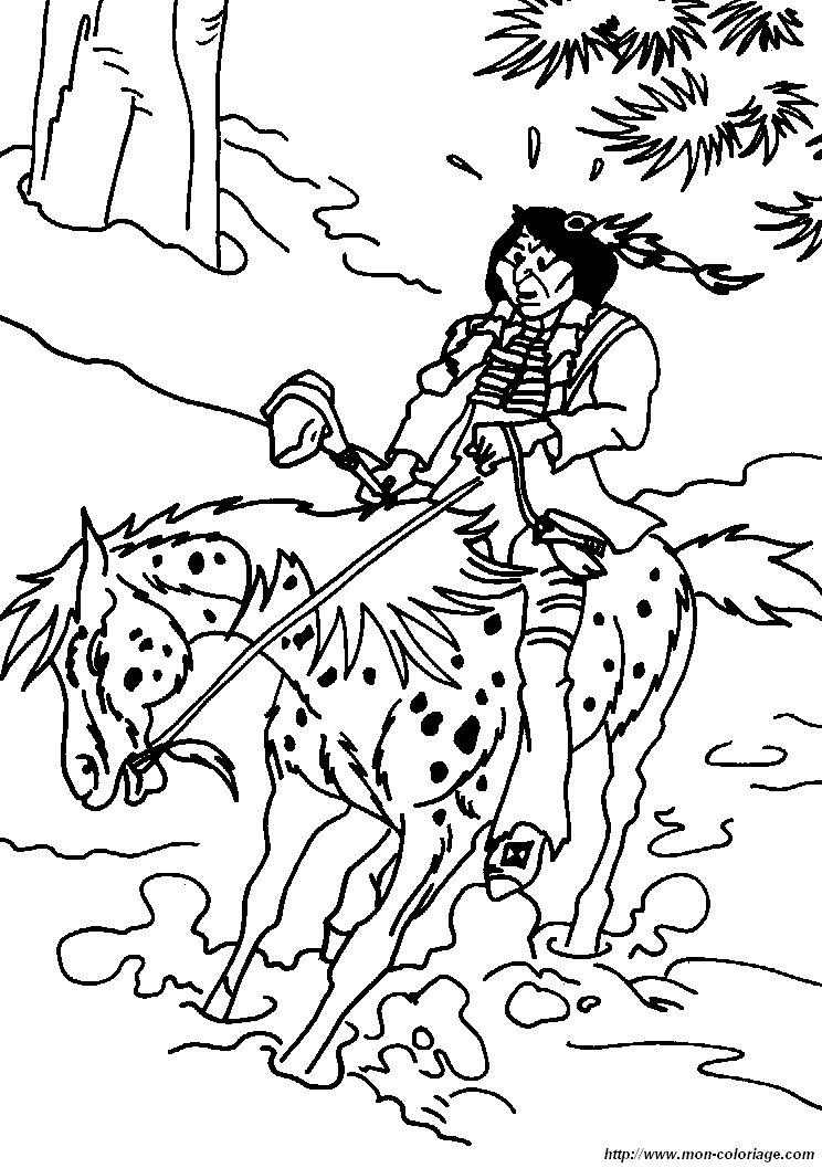 colorare yakari disegno cavallo yakari