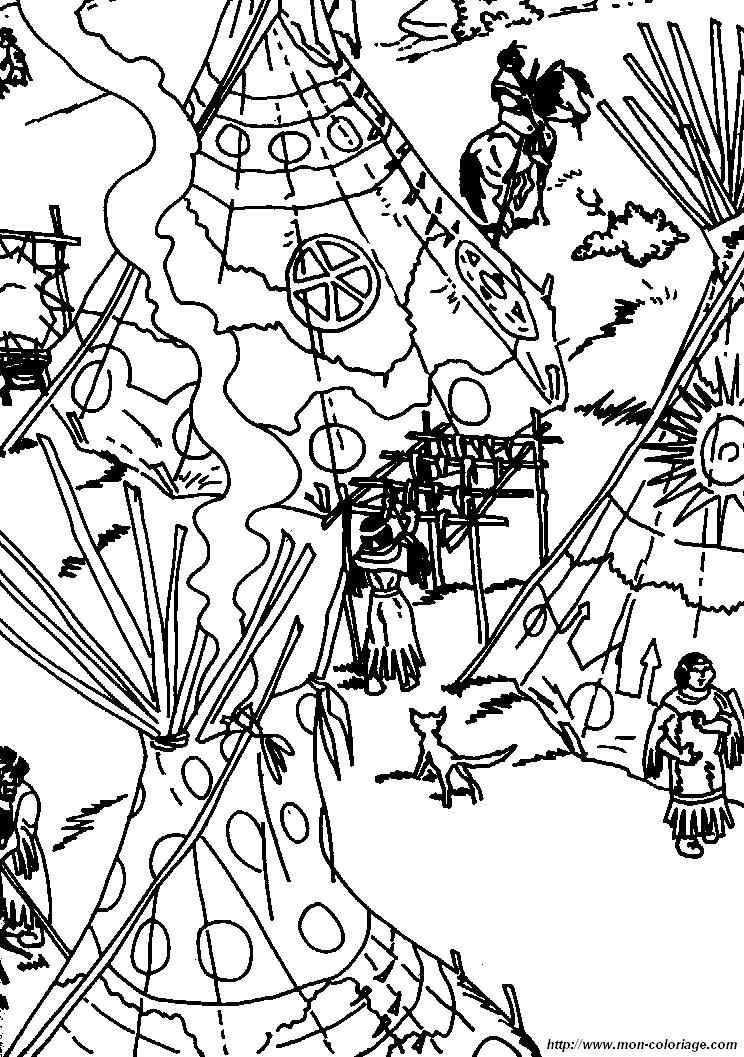 colorare yakari disegno villaggio yakarif